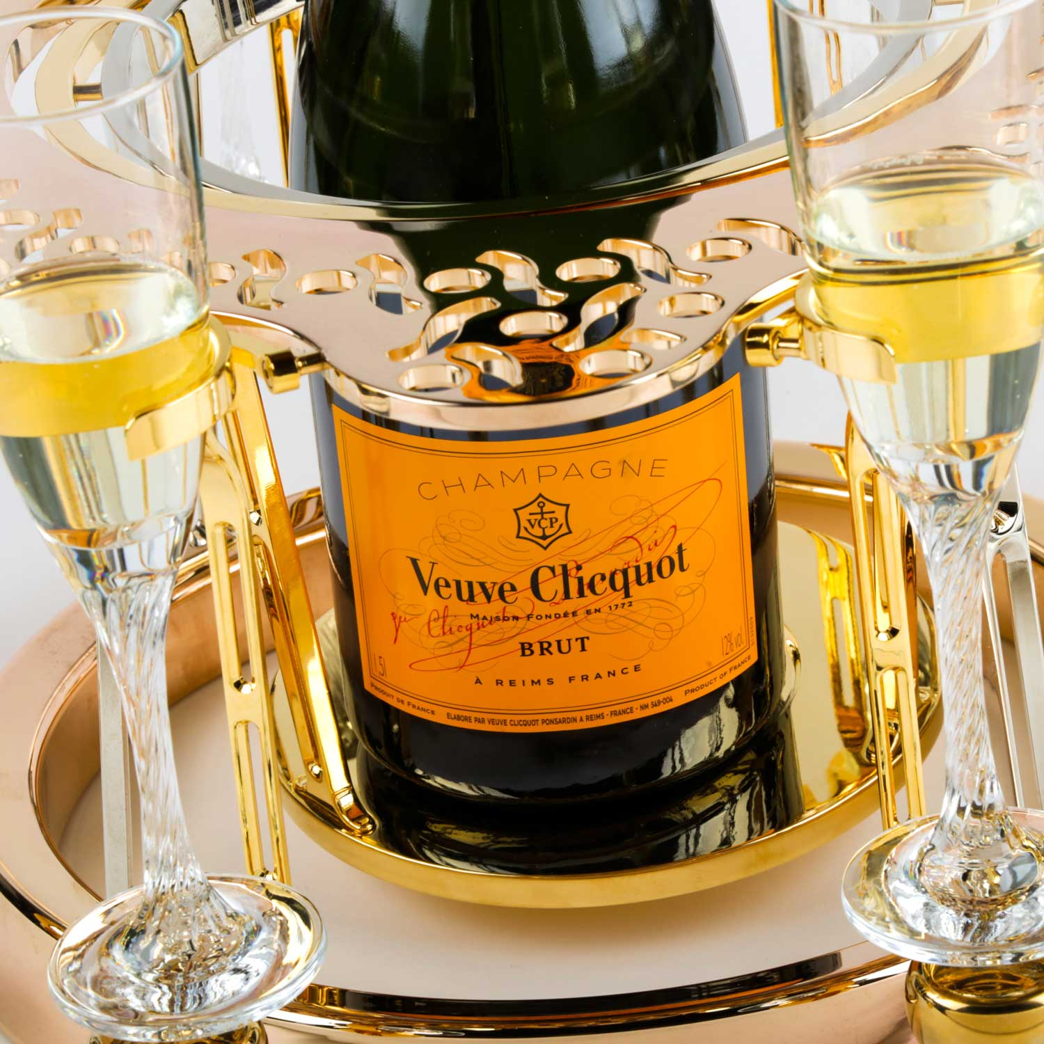 Tulip By Germain luxury champagne bucket Lace edition Veuve cliquot