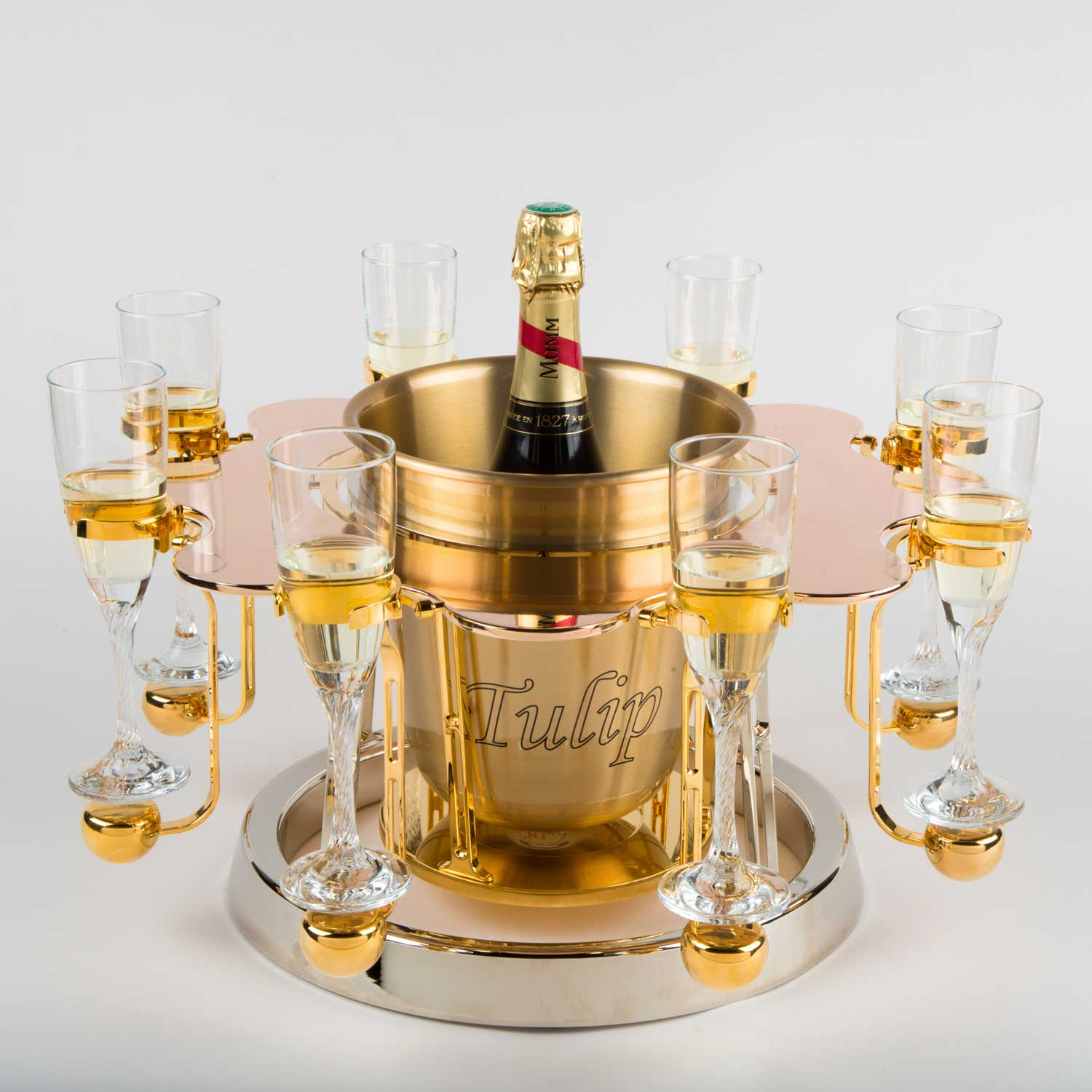 Tulip By Germain luxury champagne bucket Pinky edition Mumm