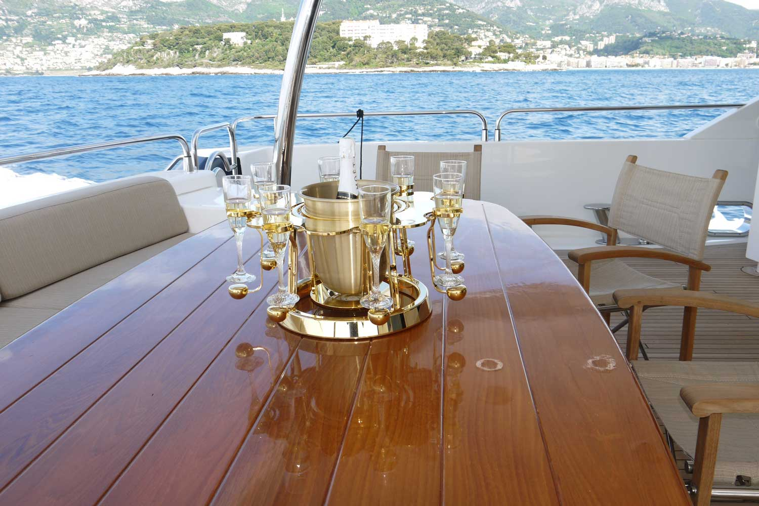 Tulip By Germain luxury champagne bucket Gold edition on Yacht