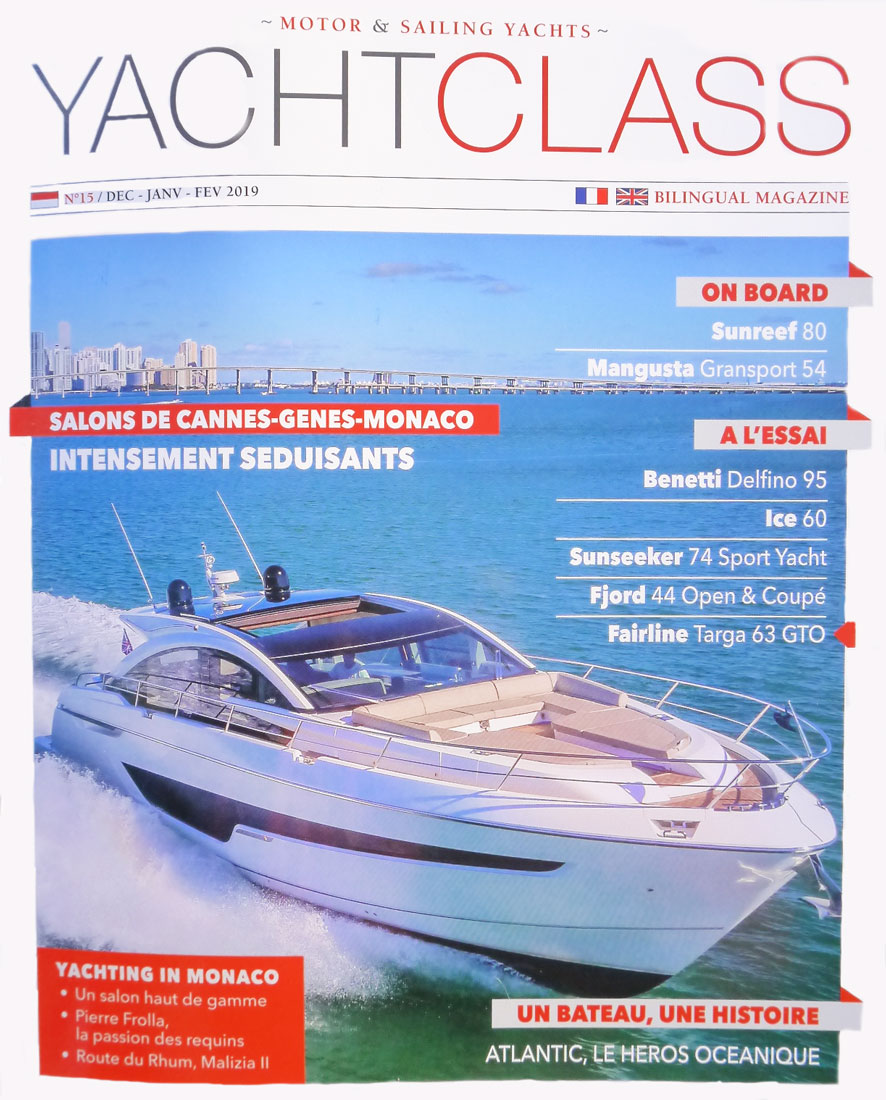 Yacht Class magazine Luxury champagne Bucket