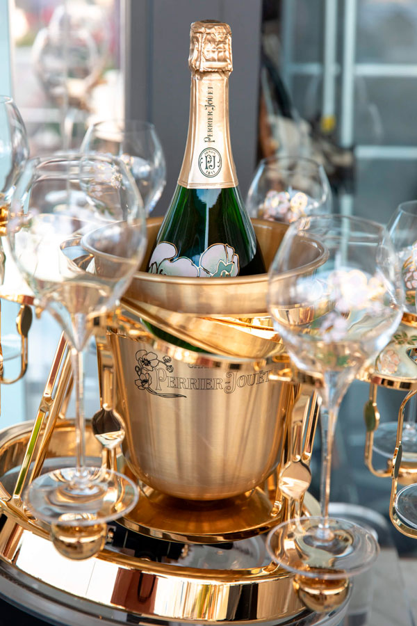 Limited Edition Perrier Jouet champagne cooler tray