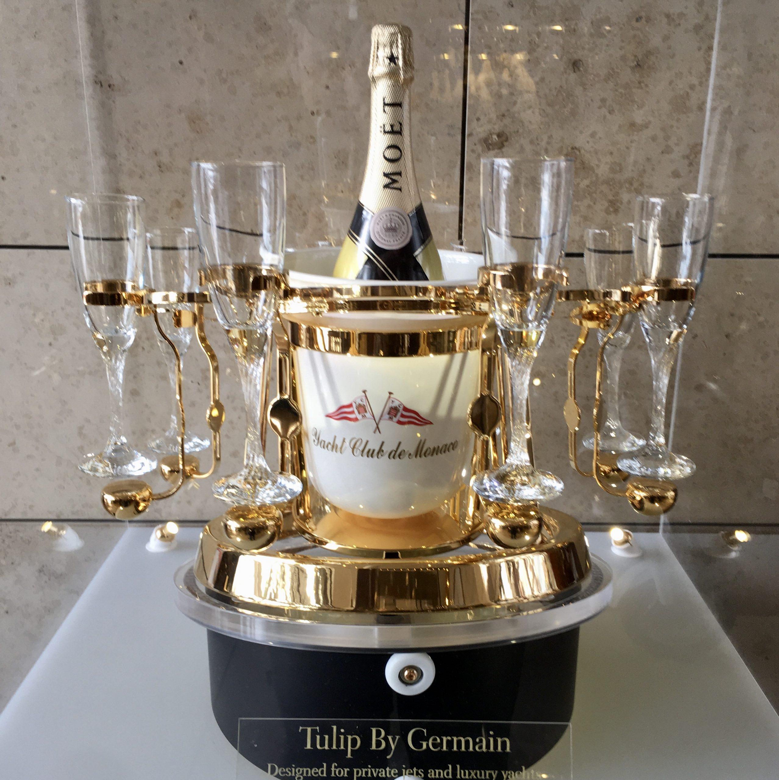 Tulip by germain monaco, yacht club de monaco, écrin champagne